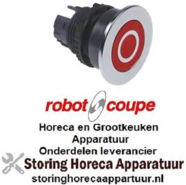178301258 - Druktaster inbouwmaat ø22mm rood Robot-Coupe