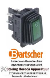 703347531 - Wipschakelaar inbouw groen 250V 20A BARTSCHER