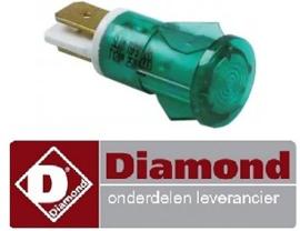 226359041 - Signaallamp ø 12mm groen 230V DIAMOND