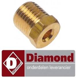 523052125  - Knelschroef voor pijp voor gasfornuis DIAMOND G17/4F8T-N