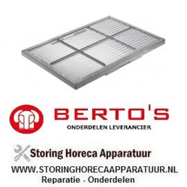 00531972700 - Lavasteenrooster lavasteengrill BERTOS G6PL80B