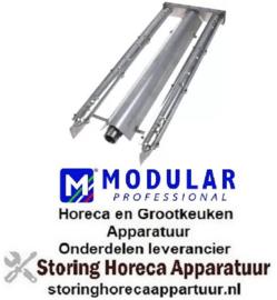 149106846 - Staafbrander 2-rijen L 610mm B 220mm H 47mm lavasteengrill MODULAR