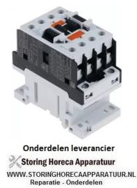 783380714 - Relais AC1 25A 230VAC (AC3/400V) 9A/4,2kW hoofdcontact 3NO hulpcontact 1NO
