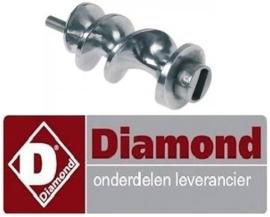 698F2122 - Worm / Spiraal voor vleesmolen DIAMOND TS12