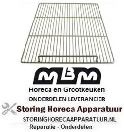 199970557 - Draadrooster B 555mm D 670mm staal kunststof gecoat  MBM