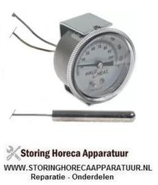 056542456 - Thermometer inbouw ø 52mm t.max. 105°C 20-105°C t.max 220°F meetbereik 70-220°F voeler ø 9,5mm Alto Shaam