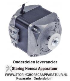 880601760 - Ventilatormotor 25W 230V 50/60Hz B 103mm K 15,5mm E 44mm buitenmaat 83x83mm kabellengte 1500mm