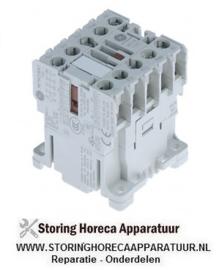 337380337 - Magneetschakelaar relais AC1 20A 230VAC (AC3/400V) 8,4A/4kW hoofdcontact 4NO aansluiting schroefaansluiting