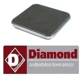 393665.104.00 - ELEKTRISCHE KOOKPLAAT FORNUIS 2600W/230V-220x220 DIAMOND E77/4PQ7T-N