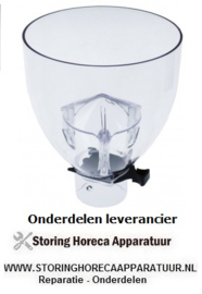 144526718 - Koffiebonencontainer met sluiting ø 155mm H 187mm afname ø 57mm