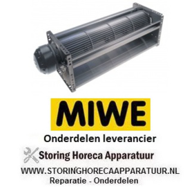 228601768 - Dwarsstroomventilator rol ø 90mm wals L 397mm motorpositie links 220V/50Hz 70W MIWE