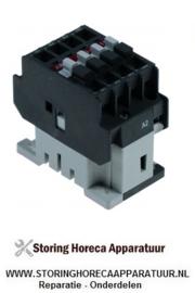 223380115 - Relais AC1 25A 400VAC (AC3/400V) 9A/4kW hoofdcontact 3NO hulpcontact 1NO