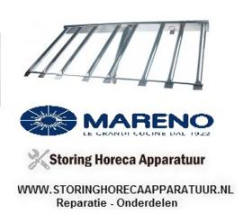 033105521 - Staafbrander 8-rijen L 520mm B 1010mm H 60mm kantel braadpan MARENO