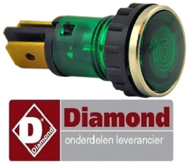 291.663.043.00 - Signaallamp groen voor fornuis DIAMOND