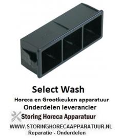 603226074 - Elementhouder drievoudig zwart voor drukknop SELECT WASH SW403