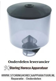 345531183 - Koffiebonencontainer met deksel ø 185mm H 211mm afname ø 65mm
