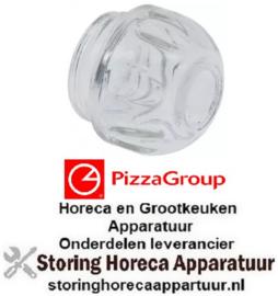 893359033 - Lensnippel draad ø 33,5mm H 39mm ø 40mm borosilicate-glas temp. bestendigheid 550°C PIZZA GROUP