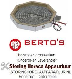 764490152 - stralingselement 8-hoekig 2500W 230V voor Bertos