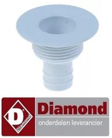 ST110471 - Afvoerventiel draad M30x2 L 40,7mm recht aansluiting 17mm voor ijsblokjesmaker DIAMOND ICE120A