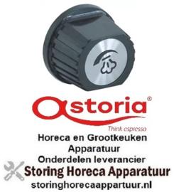 504111090 - Knop ø 55mm as ø 10x8mm afvlakking boven zwart koffie machine ASTORIA