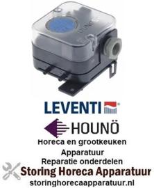913543032 - Pressostaat drukbereik 0,2-1,5mbar drukaansluiting ø 4,7mm bescherming IP54 Houno, Leventi