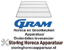 169970126 - Draadrooster B 530mm D 650mm GN 2/1 staal kunststof gecoat GRAM