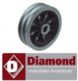 285A.90UL780.01 - Rondesnaarschijf schijf ø 96mm dubbel asafname ø 14mm DIAMOND P32/X