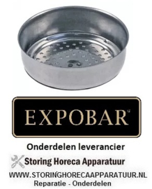 4177.50000.10 - Douche zeef ø 60mm H 18mm koffie - espressomachine EXPOBAR OFFICE 1 GR