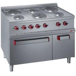 E77/6PFA11-N - Elektrisch fornuis met 6 ronde platen, met elektrische oven GN 2/1 en grill, met kast GN 1/1 DIAMOND ONDERDELEN