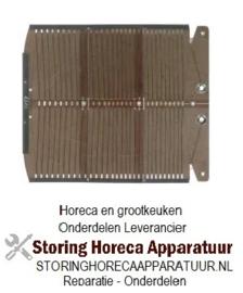 256420602 - kookplaat L 171mm B 140mm inbouwpositie eindstuk passend voor 6 Slot Classic Toaster
