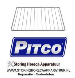 865PP10434 - Draadrooster staal verchroomd voor friteuse PITCO 35C