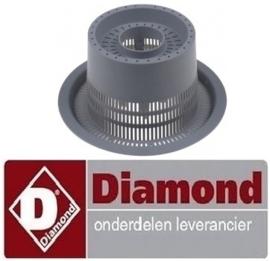 437121120 - Afvoerfilter voor voorlader vaatwasser DIAMOND D86