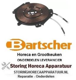 474 404000 - Induktiespoel 3500W 230V 50Hz L 220mm B 217mm H 12mm passend voor BARTSCHER