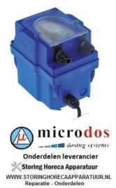 3613.617.75 - Doseerapparaat MICRODOS toerentalregeling 4l/h 24 VAC wasmiddel slang ø 4x6mm slang Santoprene