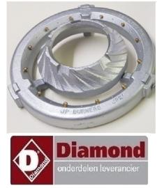 045G041E - Soepbrander China woktafel 9 jets 12 KW  DIAMOND CHINA