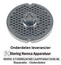 158696127 - Gatenschijf gehaktmolen type ENTERPRISE grootte 22 gat ø 4,5mm met naaf 2 RVS ø 82 mm