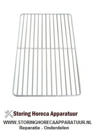 109970125 - Koeling rooster GN 1/1 B 325mm D 530mm staal kunststof gecoat dwarsbalken 1 wit