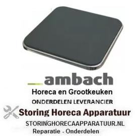 164490068 - Kookplaat maat 220x220mm 2600W 400V AMBACH