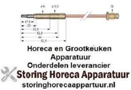 018107602 - Thermokoppel M8x1 L 850mm steekhuls ø6,0(6,5)mm