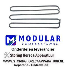 487.416539 - Verwarmingselement 2100W 230V VC 1 L 383mm B 170mm H 60mm B1 35mm B2 100mm aansluiting M5 MODULAR
