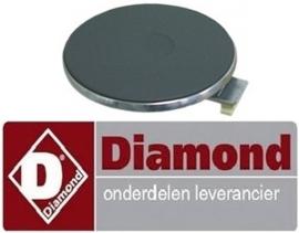 177.665.006.00 - Kookplaat ø 220mm 2600 Watt voor fornuis DIAMOND ES65/PFVA-N
