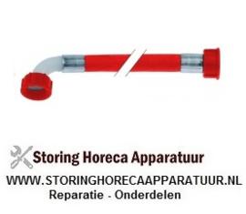 """523520462- Toevoerwaterslang PVC recht-haaks DN12 aansluitingen 3/4"""" L 1500mm werkdruk 10bar"""