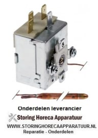 267390812 - Thermostaat t.max. 87°C instelbereik vast 87°C 1-polig 1CO 16A voeler ø 6,5mm voeler L 97mm