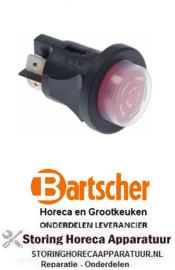 034348211 - Drukschakelaar inbouw rood 250V 16A BARTSCHER