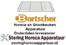 233970813 - Oplegrooster B 435mm D 315mm H 15mm staal verchroomd BARTSCHER