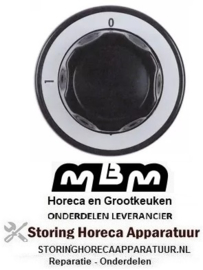 361112793 - Knop 0-1 zwart voor MBM