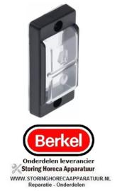 13636013012 - Afdekkap inbouwmaat 35,5x74mm transparant kunststof BERKEL