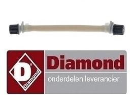018143267 - Doseerslang wasmiddel slang ø 6x9mm slanglengte 140mm slang ø 4x6mm slangtype L