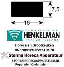 8060320200 - Pakking voor sealbalk boven B 16mm H 7,5mm silicone per meter voor vacumeerapparaat HENKELMAN
