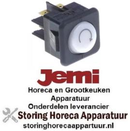 783347173 - Wiptaster inbouwmaat 27,8x25mm wit 2NO 250V 16A verlicht programma aansluiting vlaksteker 6,3mm JEMI